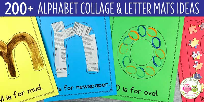 FREE List: 200+ Materials For Preschool Letter Activities And Collages -  Early Learning Ideas