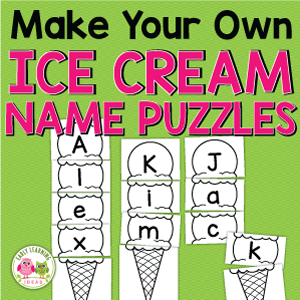 ice cream name puzzles