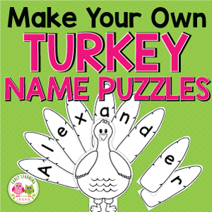 turkey name puzzle for preschool