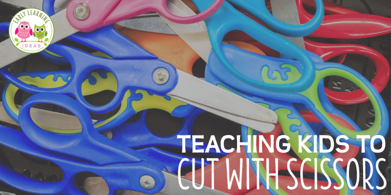 Are you teaching your kids to use scissors? Is cutting with scissors difficult for some of your kids? Find tips and ideas and basic steps to help develop the skills needed for successful cutting with scissors. From working on fine motor skills and grasp & release motion to snipping and cutting ideas. These ideas will help your kids get cutting practice and build their scissor skills. Free printable are included.