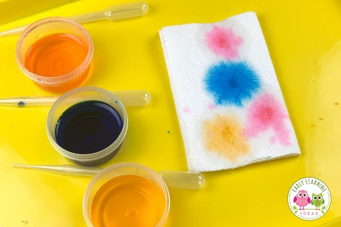 Try out these fun & easy painting activities to promote fine motor skills. These ideas are perfect for preschool art projects. Help your preschoolers strengthen hand muscles. These open-ended projects are perfect for preschool, pre-k, kindergarten, occupational therapy classrooms or to do at home. From squeezing a bottle to pinching a clothespin, your kids will love these process art activities. Click to lean how painting can help fine motor skills.