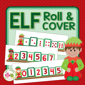 elf themed roll and cover math game