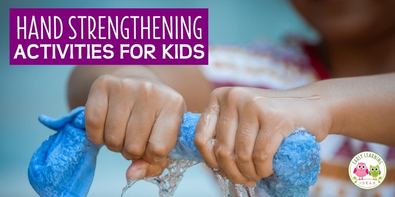 Try out these hand strengthening activities for kids. The fun fine motor activities will build and improve strength in little hand muscles. From squeezing activities to hole punch and plunger activities, these ideas to increase hand strength are perfect for preschool, pre-k, kindergarten, occupational therapy classrooms, and at home. From theraputty, toys like squigz, and squirt guns your preschoolers will love these ideas. Check them out today.
