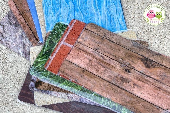 scrapbook paper mats for playdough kit