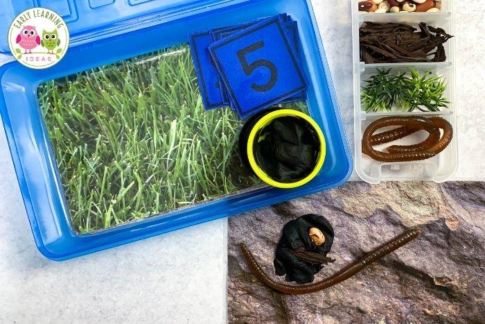 bug, worm, or garden themed playdough kit