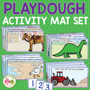 printable playdough activity mat set