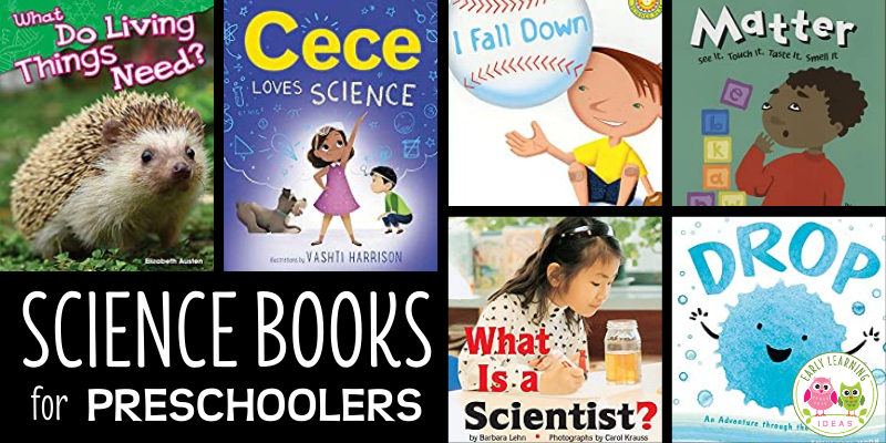 Inspire your young scientists with this list of the best preschool science books. Click to find life science, Earth science, physical science, and books that will help your kids think like a scientist. Perfect for your preschool, pre-k, kindergarten storytime, circle time, class library, class science center, or dramatic play center.
