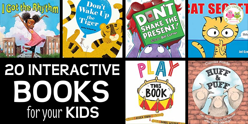 Find the best interactive books for your kids in preschool, pre-k, TK, and kindergarten. These hands-on books will get your kids excited and engaged. When you are looking for ways to make storytime fun for preschoolers, try these interactive books that include touch and feel books, lift-the-flap, and other books that require participation. Perfect for your classroom library, book center, and will work well for circle time or storytime.