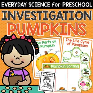 pumpkin investigation - a pumpkin themed science activity for preschoolers