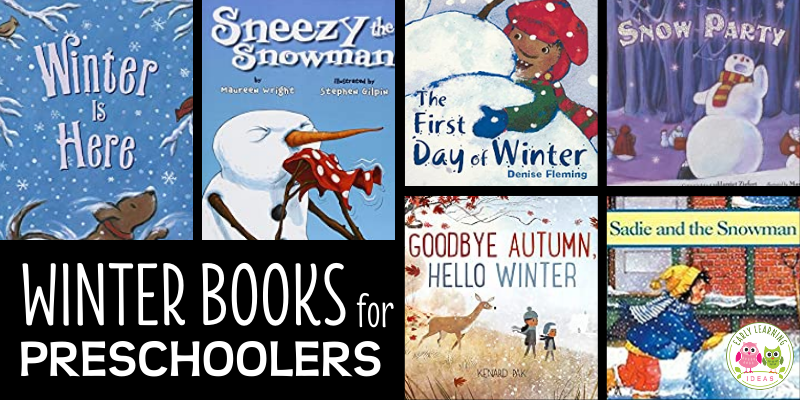 Find the best winter-themed books for preschool kids. Your kids will love these books about snowmen, snow, and animals in winter.