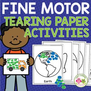 tearing paper activities