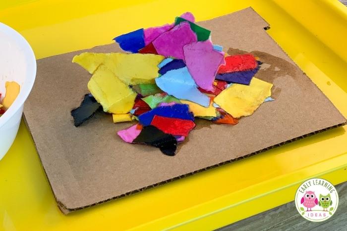 torn paper process art activity