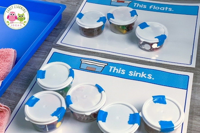 water experiments for preschoolers idea for sink or float