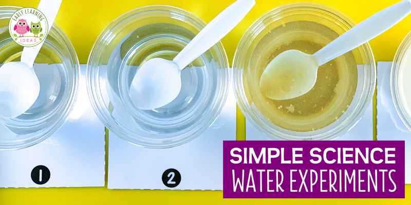 simple water experiments for preschoolers