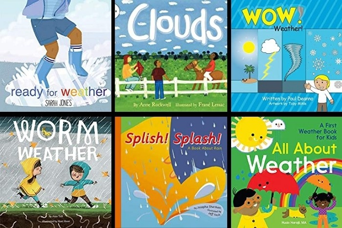 Are you looking for fun ways to introduce weather to preschoolers?  Check out his list of the best weather activities for preschool kids.  From weather music, books, arts & crafts, to weather stations and experiments, your kids will love these fun activity ideas.  Perfect for your preschool, pre-k, kindergarten, and special ed classroom.  Help your kids learn about storms, snow, fall, rain, spring, summer, and wind.  Click to learn more.