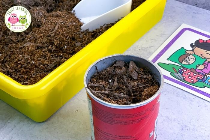 planting flower seeds with kids