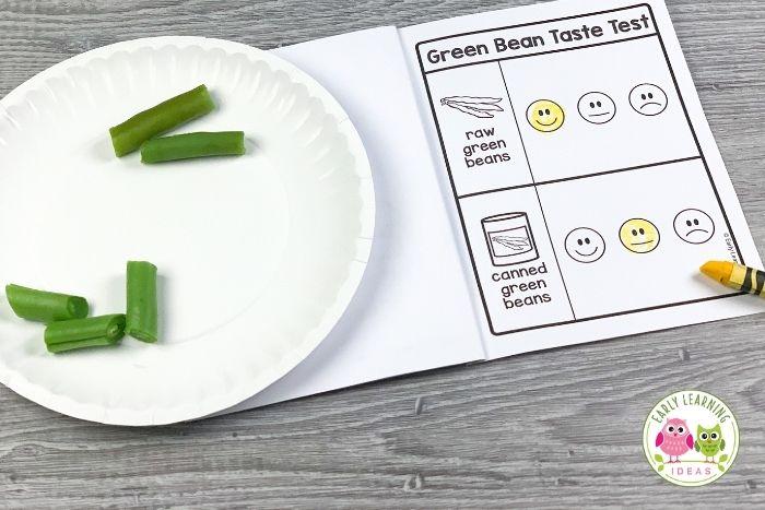 conduct a green bean taste test