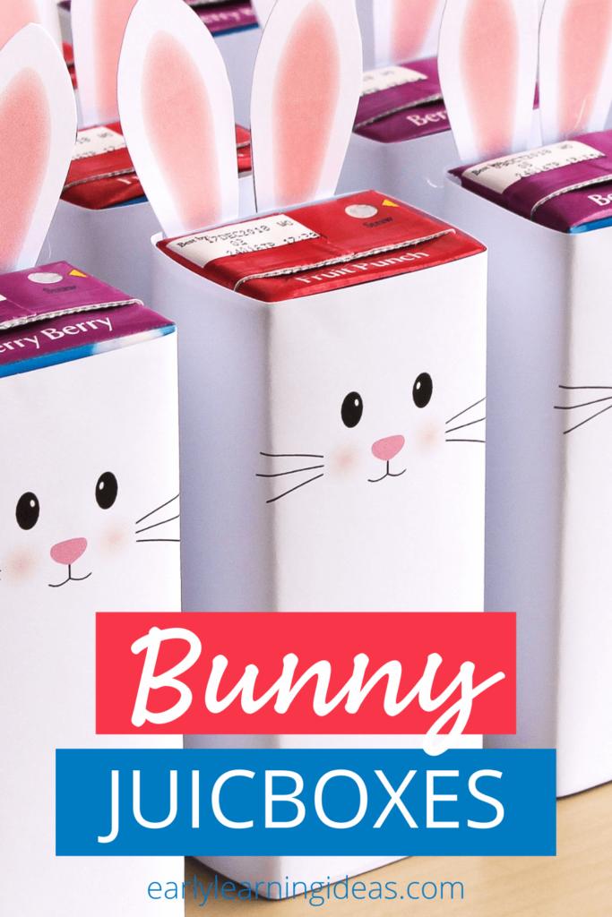 bunny juice box printable