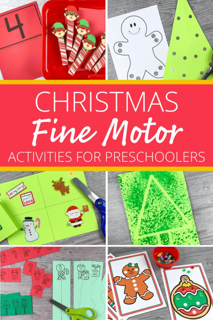 Christmas fine motor activities for preschool
