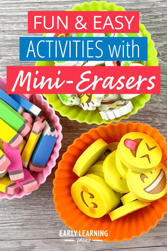 preschool activities with mini erasers