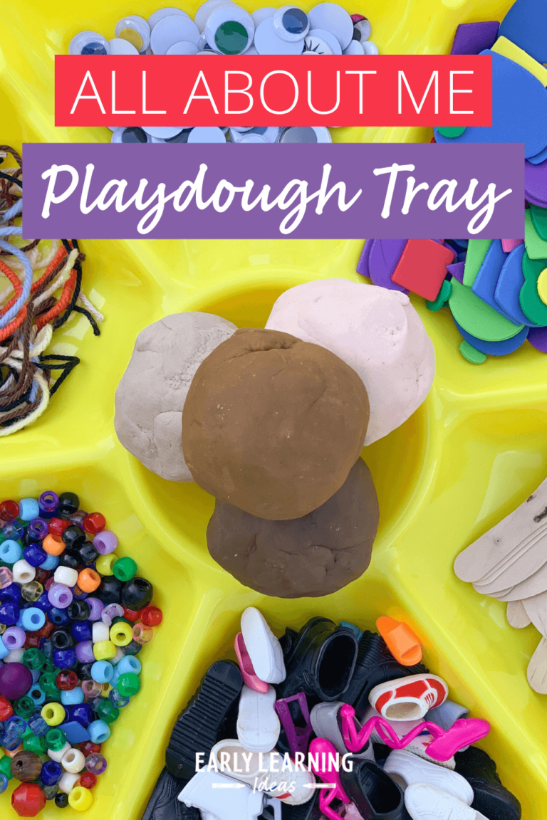 How to Make a Fun Playdough tray for your All About Me Theme
