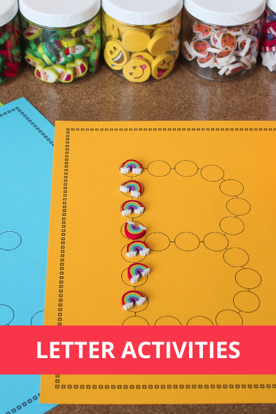 Alphabet, letter and sound activities for preschool and pre-k