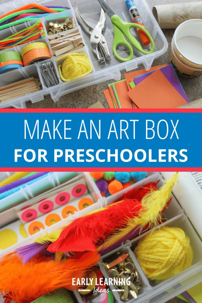 make an art box for your preschoolers