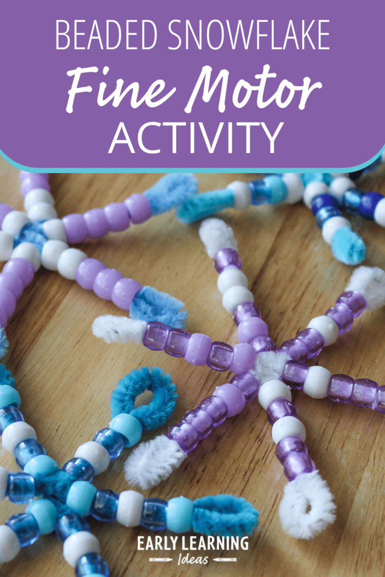 A Beaded Snowflake Craft for Kids: Math & Fine Motor Activity