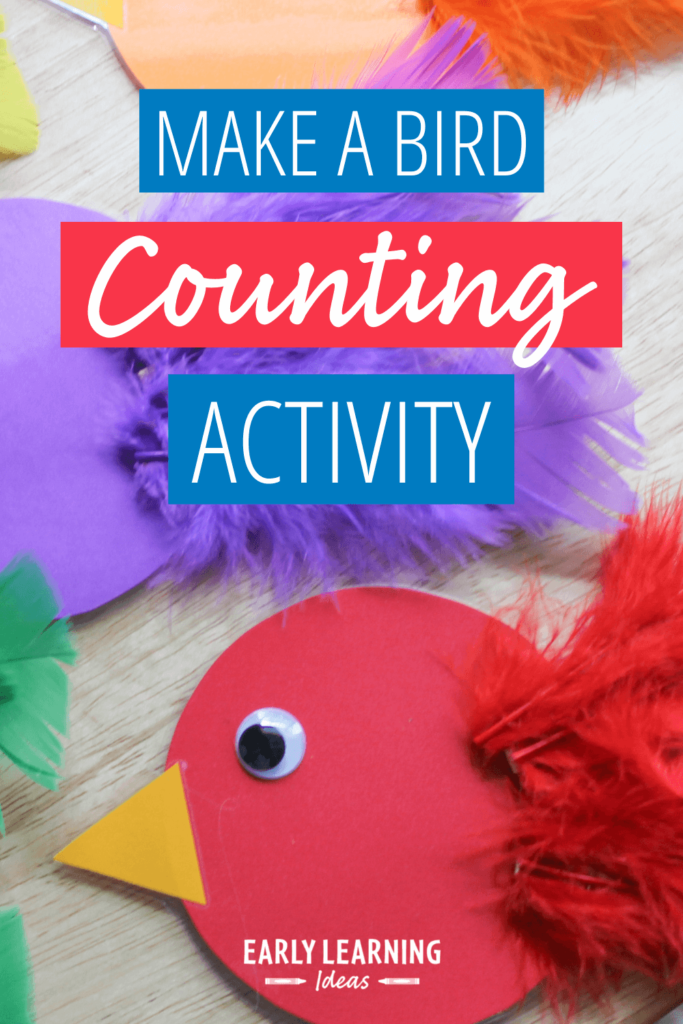make a bird color and counting activity