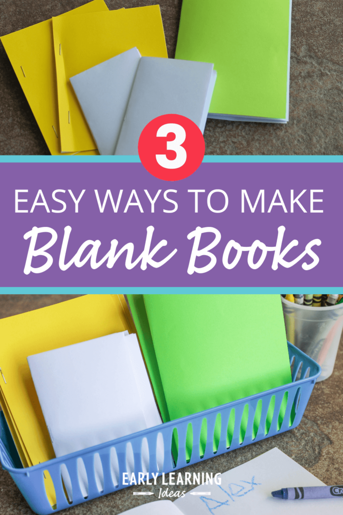 3 ways to make blank books for books