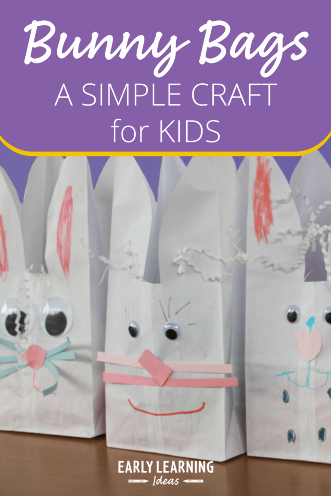 bunny bag Easter craft for kids