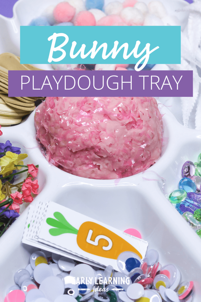 Easter Playdough:  How to Easily Make a Bunny Invitation to Play