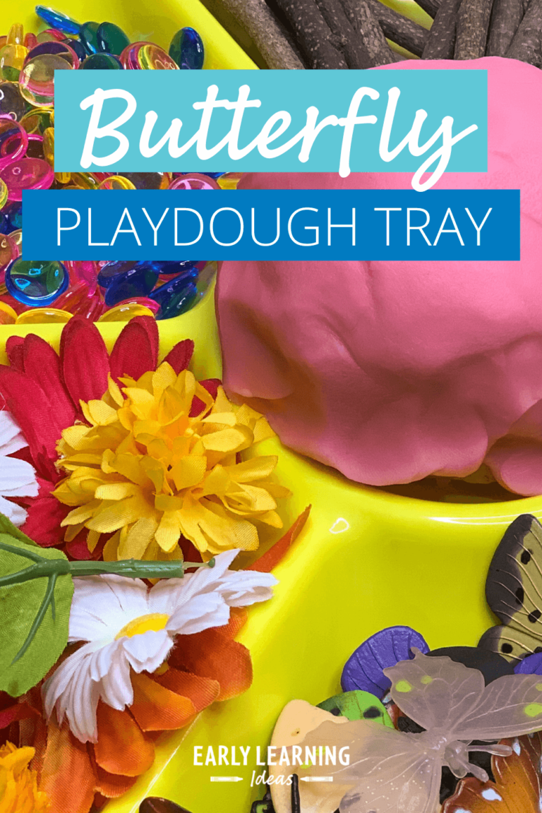 How to Make a Simple Butterfly Playdough Tray That Your Kids Will Love