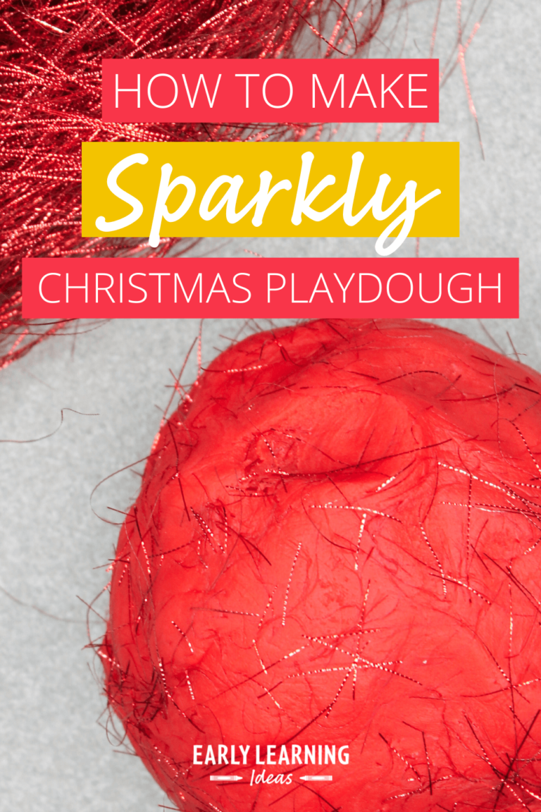 How to Make Sparkly Christmas Playdough:  The One Ingredient You Need to Try