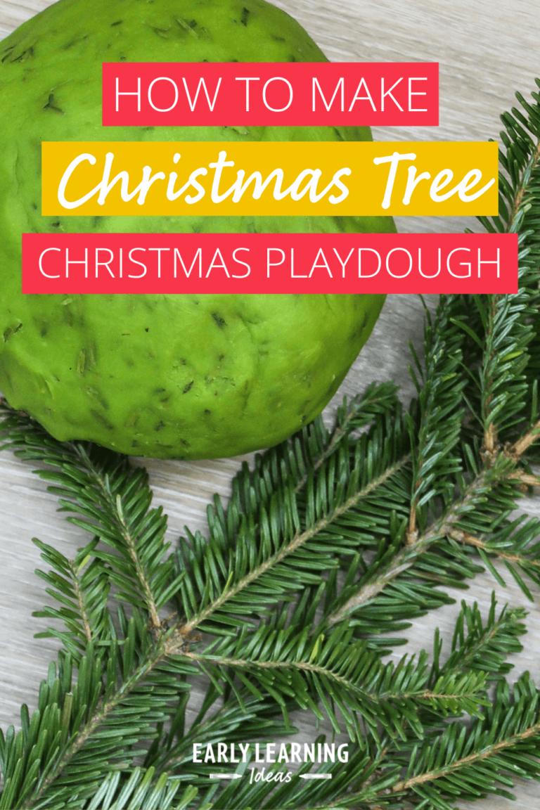 How to Easily Make Amazing Christmas Tree Playdough