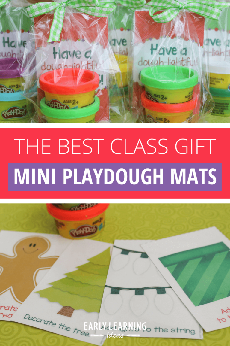 The Best Gift for Your Class: Christmas Play Dough Mats (free printable)