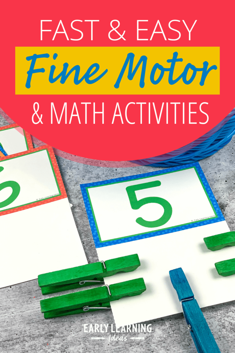 Count and Clip Cards: This is How to Easily Combine Math & Fine Motor