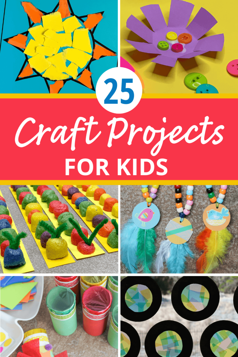 Here are 25 Easy Craft Projects to do with Kids