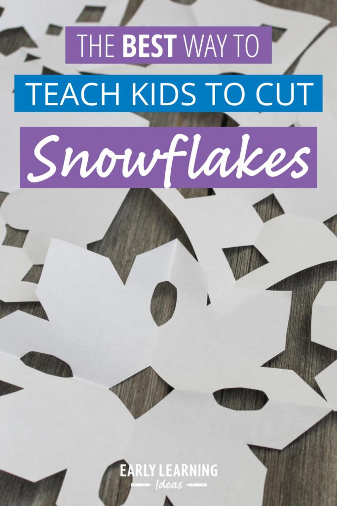 teach kids how to cut paper snowflakes