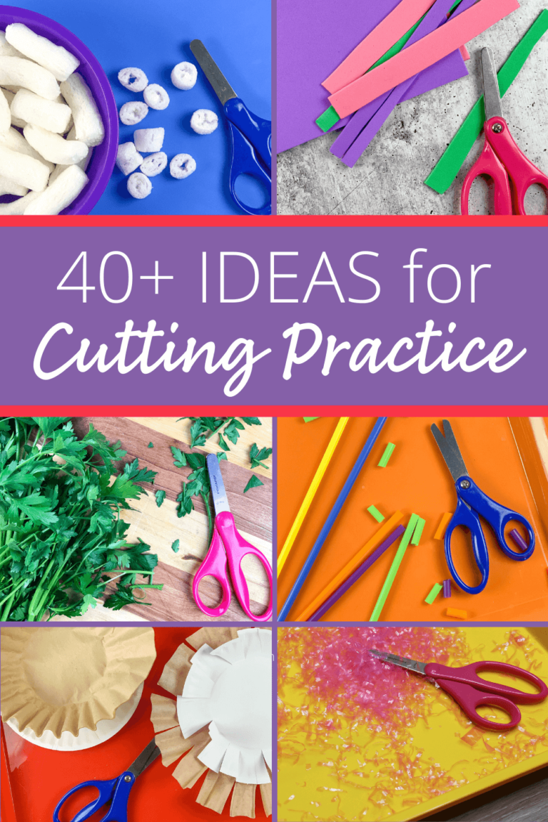 Cutting Practice for Preschoolers: 45 Easy Ideas