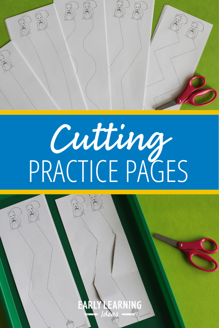 How to Work on Scissor Skills with this Free Cutting Activity