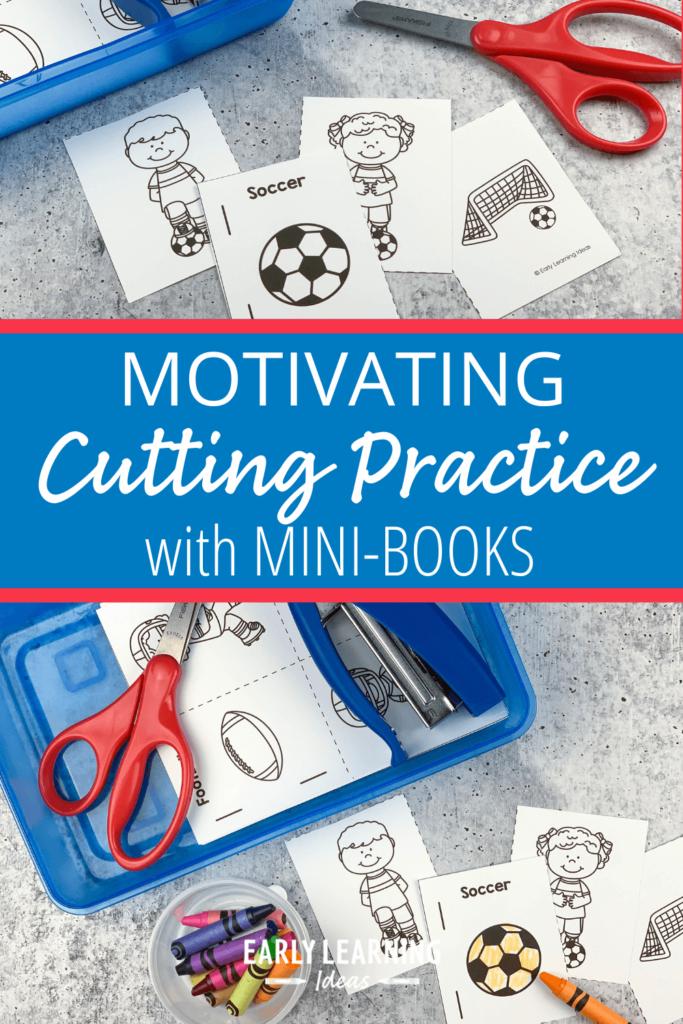 scissor practice with mini books