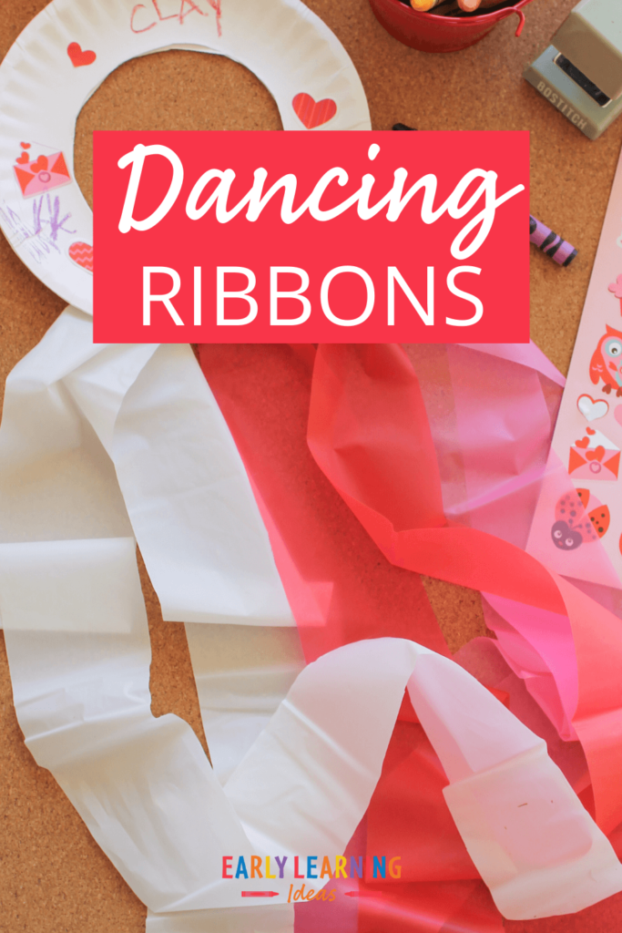 make dancing ribbons for an easy craft for kids
