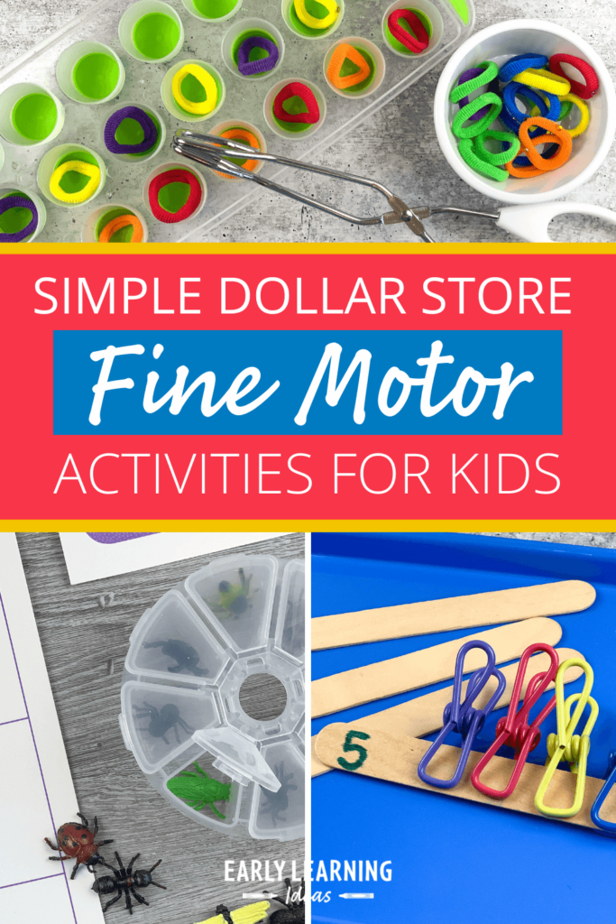 dollar store fine motor activities