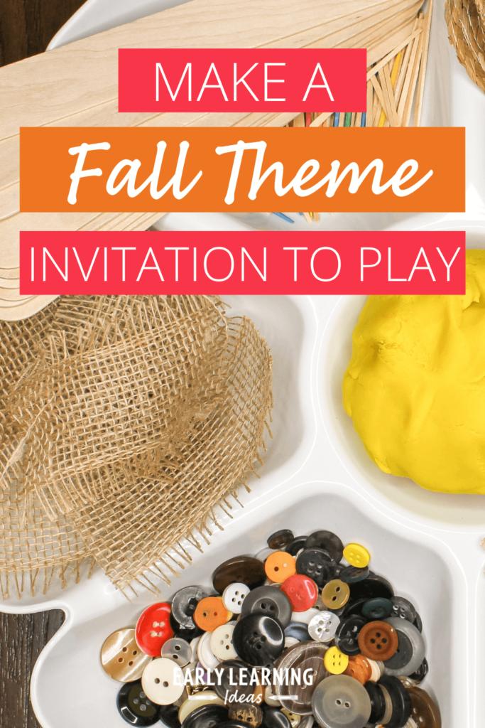 playdough activities for fall