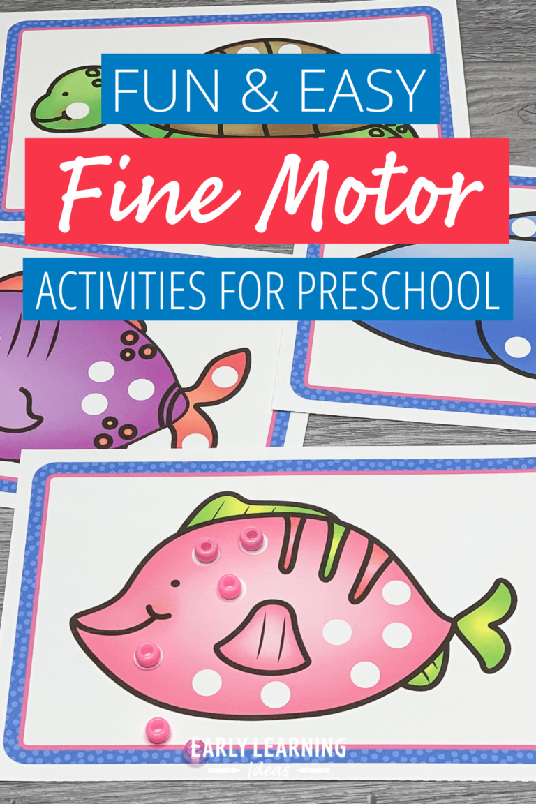 Fun Fine Motor Activities: How to Use These Bead Placement Printables