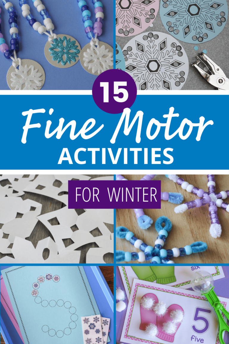 20 Winter Fine Motor Activities That Will Make Your Kids Excited