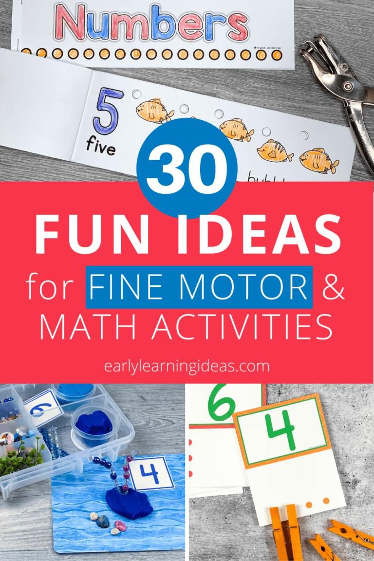 30 of the Best Fine Motor Math Activities for Preschoolers