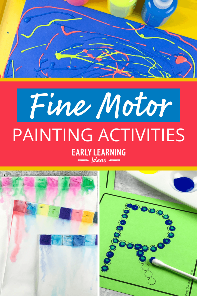 The Best Painting Activities to Promote Fine Motor Skills