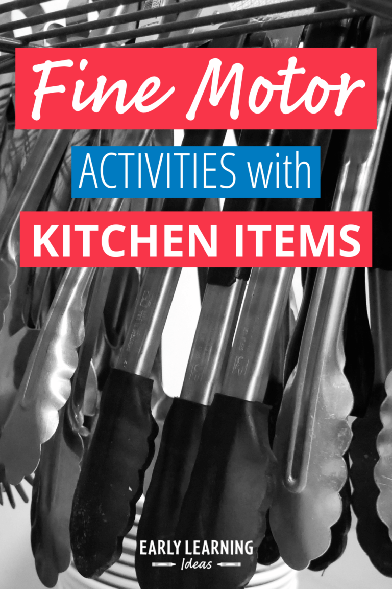 40 of the Best Fine Motor Activity Ideas with Kitchen Items